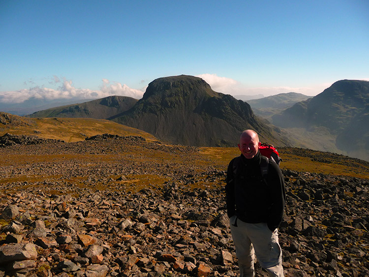 An amazing view of Great Gable from Kirk Fell (and of John too!!)