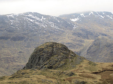 Looking back to Pike of Stickle - notice the man on top?