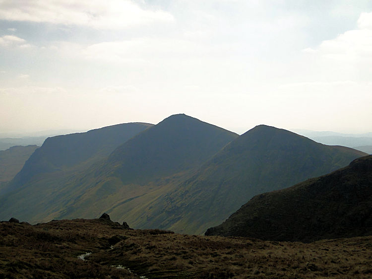The Kentmere west ridge as seen from High Street