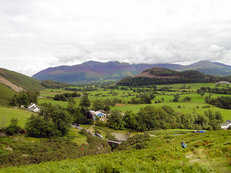 The Skiddaw Range with Swinside in the foreground