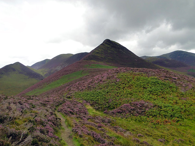 Approaching Causey Pike from Rowling End