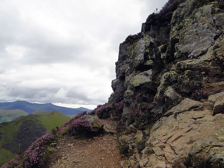 The final ascent to Causey Pike was a scramble