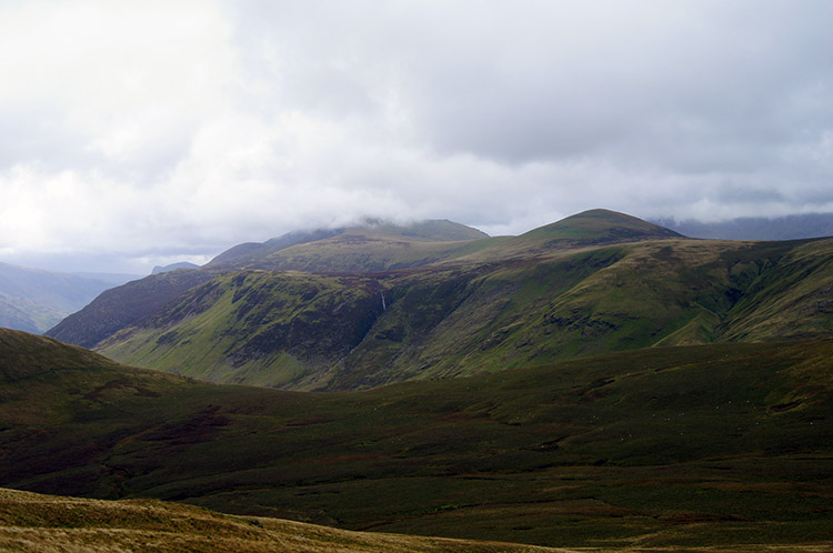 The view south to the High Stile range from Hen Comb