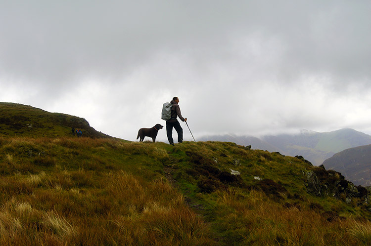Peter and Oscar, happy together on the fells