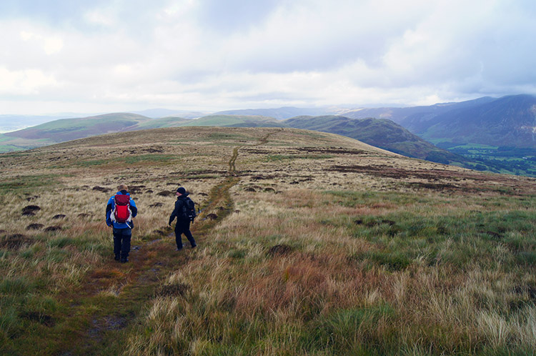 John Deasey and Neal on the way to Burnbank Fell