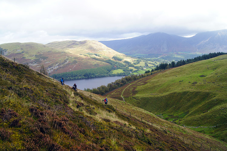 The steep descent of Burnbank Fell