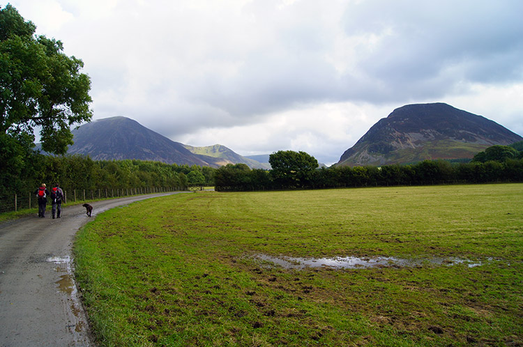 The track from Loweswater to Maggie's Bridge