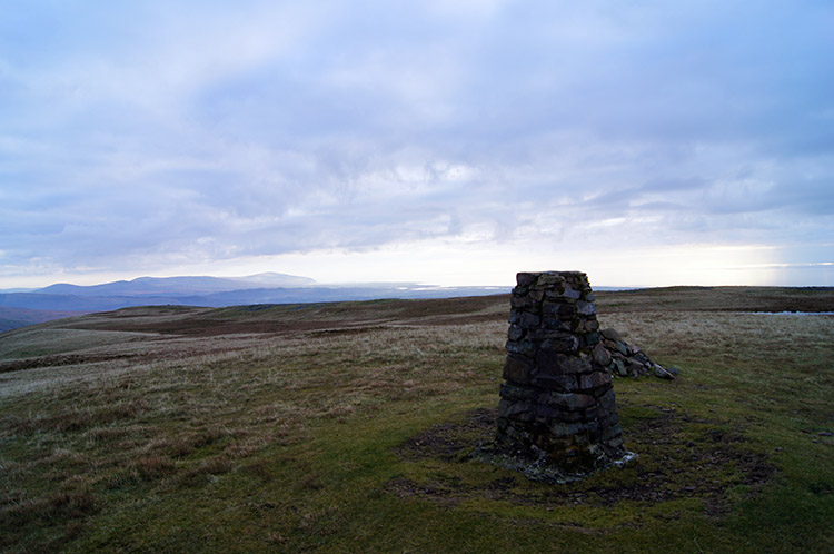 The summit trig point on Lank Rigg