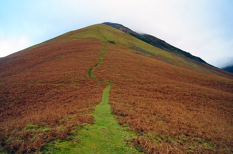 Beginning the uphill struggle on Kirk Fell