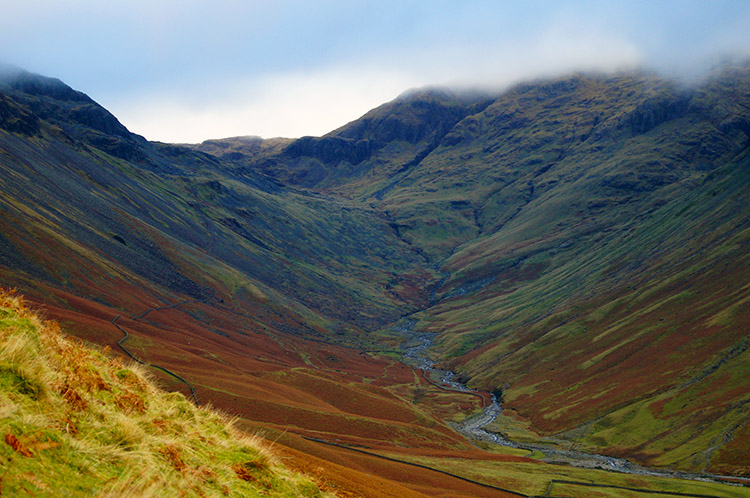 Looking over to Lingmell Beck