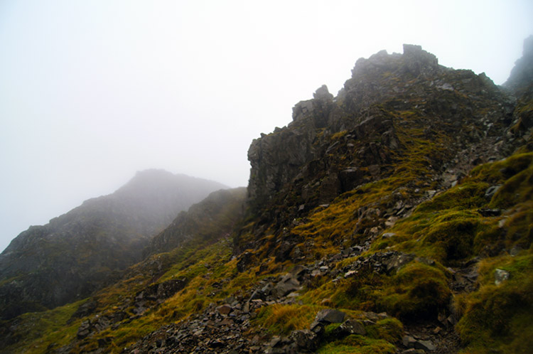 One of the jagged Kirkfell Crags