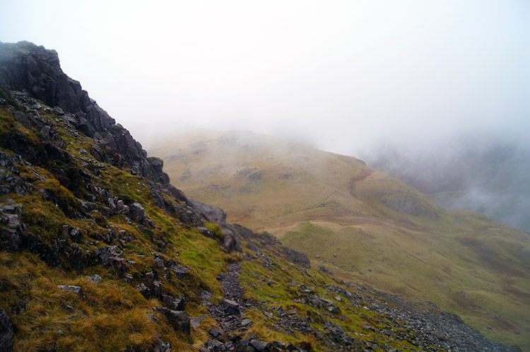 Looking down to Black Sail Pass