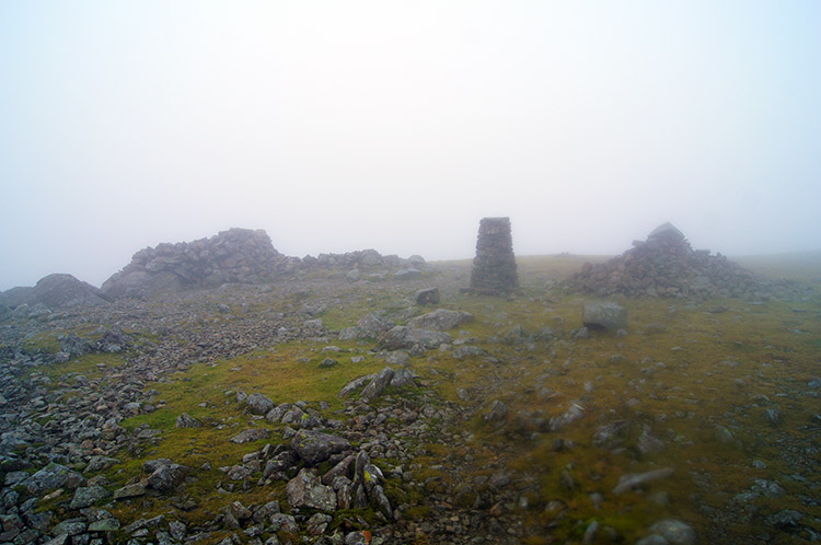 Cloud covered summit of Pillar