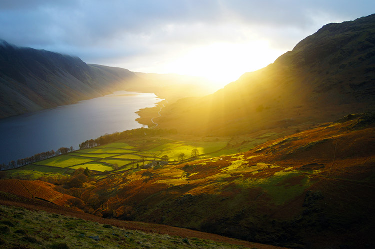 Fantastic sunset in Wasdale