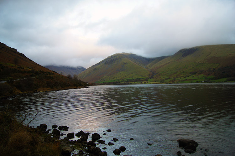 Dusk falls over Wast Water