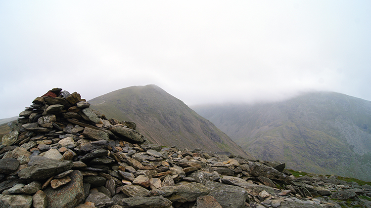 Cairn marking the summit of Brown Pike