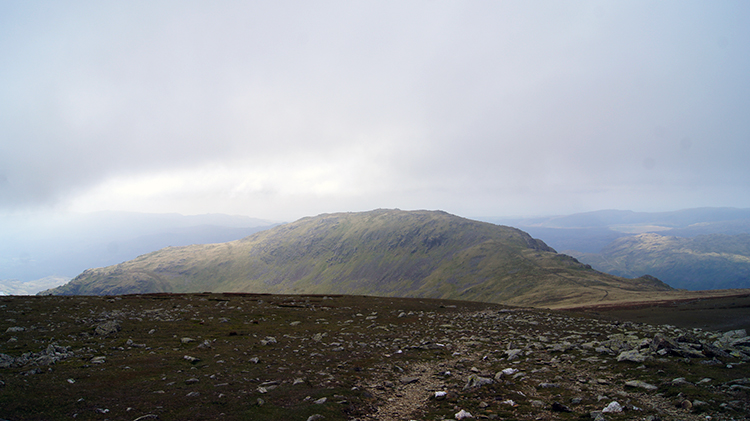 Looking back to the Old Man of Coniston