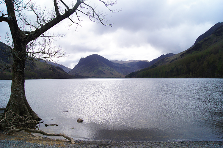 View across Buttermere to Fleetwith Pike
