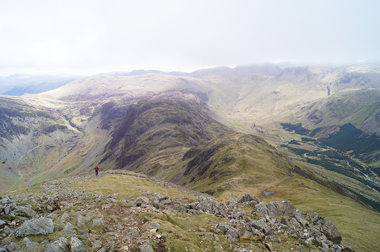 View from High Crag to Seat and Haystacks