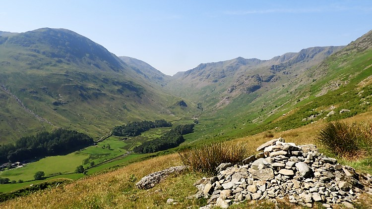 View of Grisedale from Hole in the Wall path