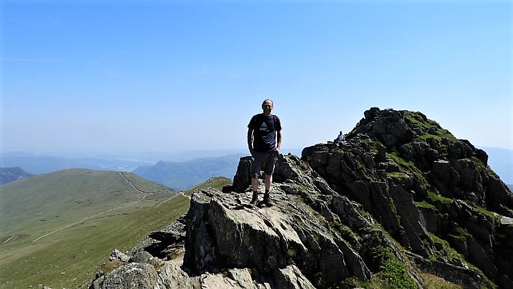 In my element on Low Spying How, Striding Edge