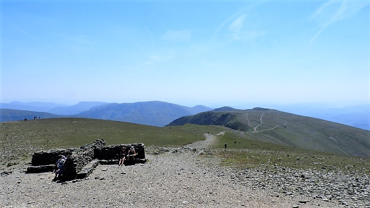 The path from Helvellyn to Nethermost Pike