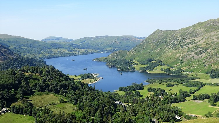 The view to Ullswater from Birks