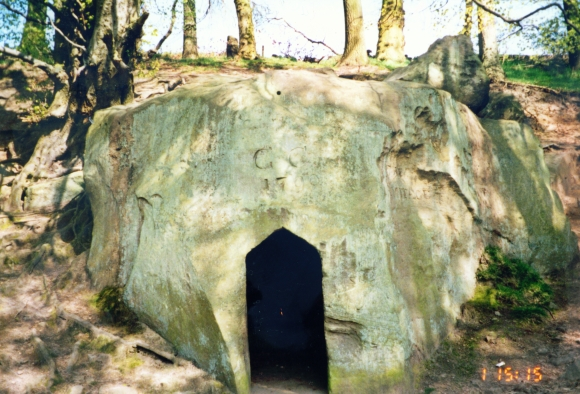 The Hermitage is shaped from a single boulder
