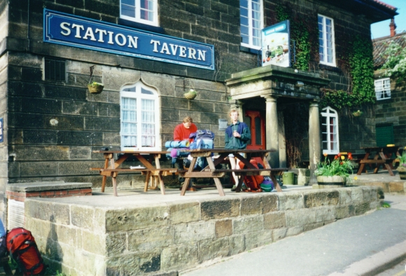 Taking a break at the Station Tavern in Grosmont