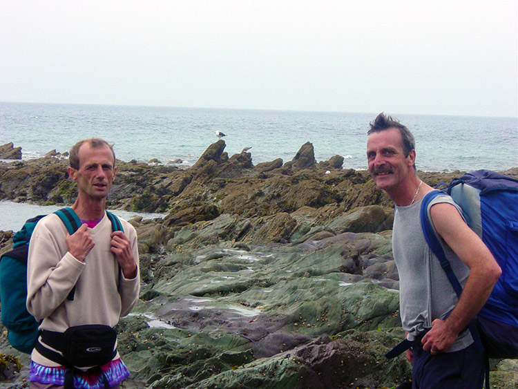 Dave and Steve at Salter Rocks