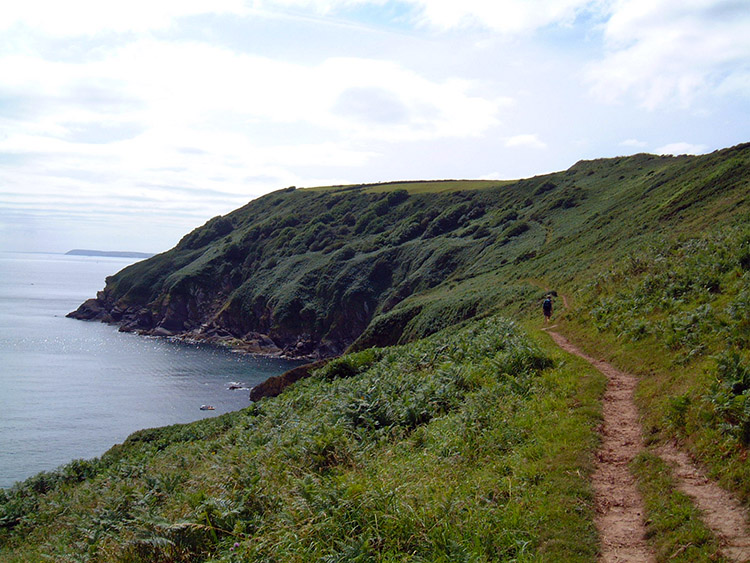 South West Coast Path near Lantic Bay
