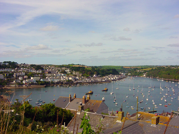 View from Polruan to Fowey