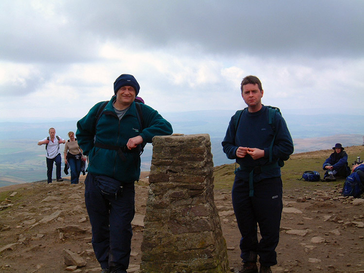 Me and Chris on the summit of Pen-y-ghent
