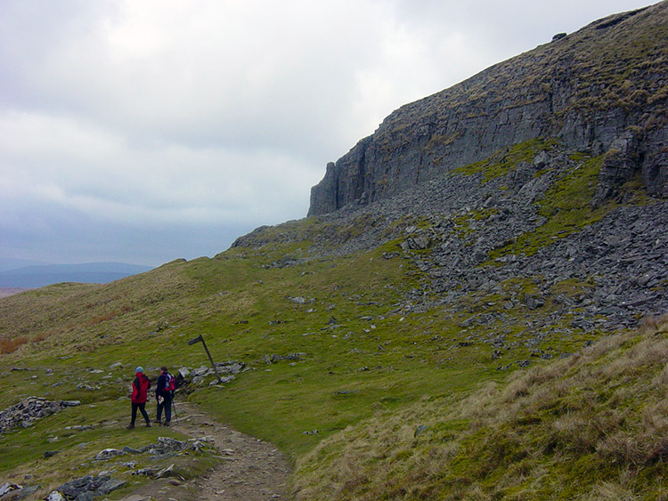 Descending from Pen-y-ghent to Hull Pot