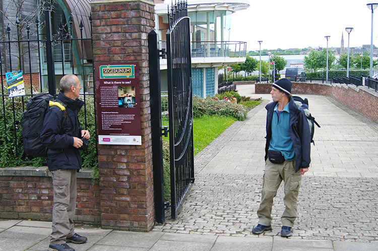 Steve and Dave outside Segedunum Fort
