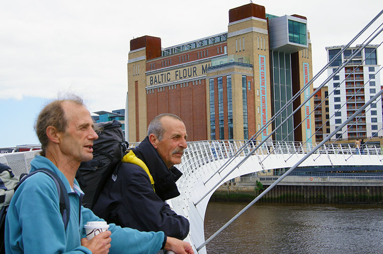 Dave and Steve take in the view from Millennium Bridge