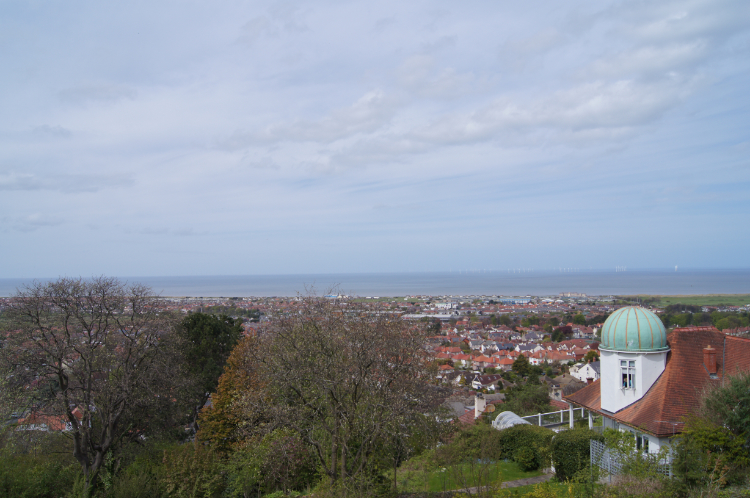 View to Prestatyn from the hillside