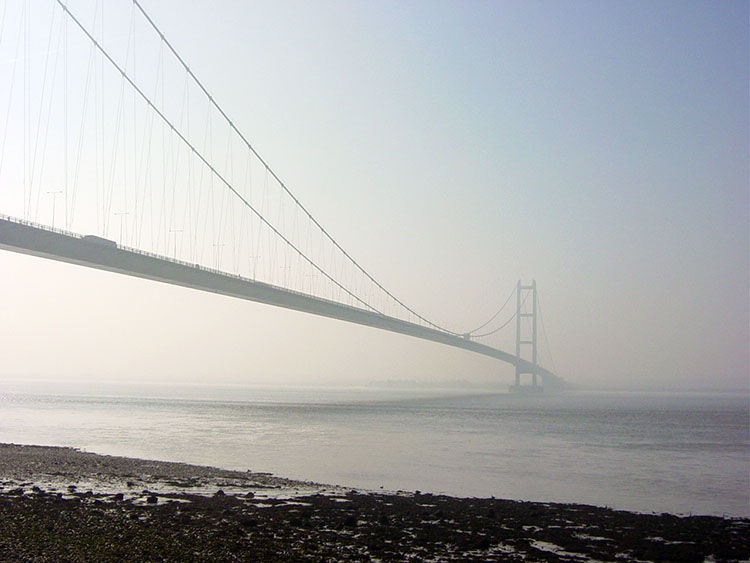 The Humber Bridge seen from Hessle Haven