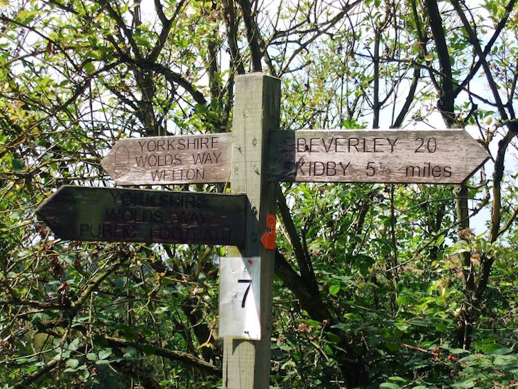 Wolds Way signpost