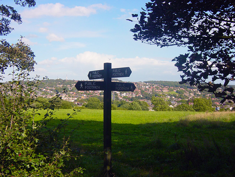 View of Horsforth from Hunger Hills