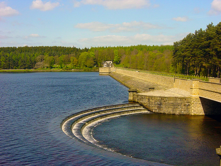 Fewston Reservoir Dam and spillway