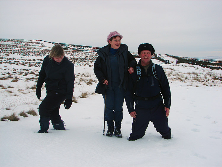 Ray and Karen get bogged down in deep snow