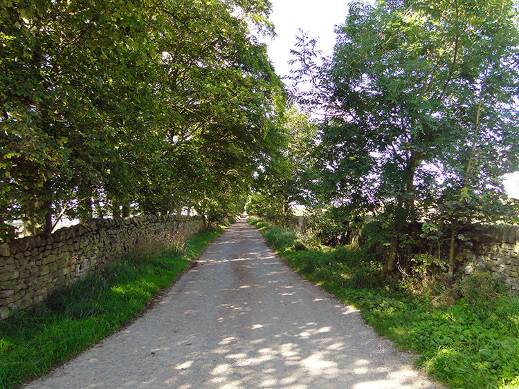 Parson's Lane leads up to Silsden Moor