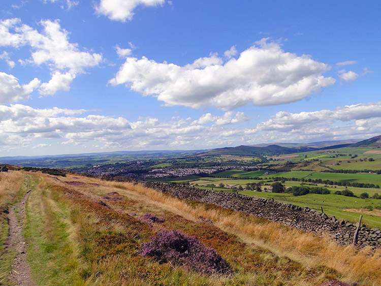 View back towards Skipton from Skipton Moor