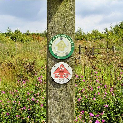 Waymarking for 'Walk for the Millennium'