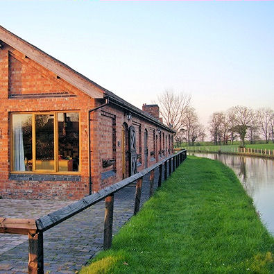 Converted stables on the Shropshire Union canal