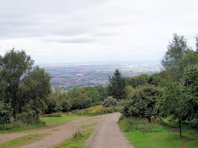 Telford can be seen on the descent from the Wrekin