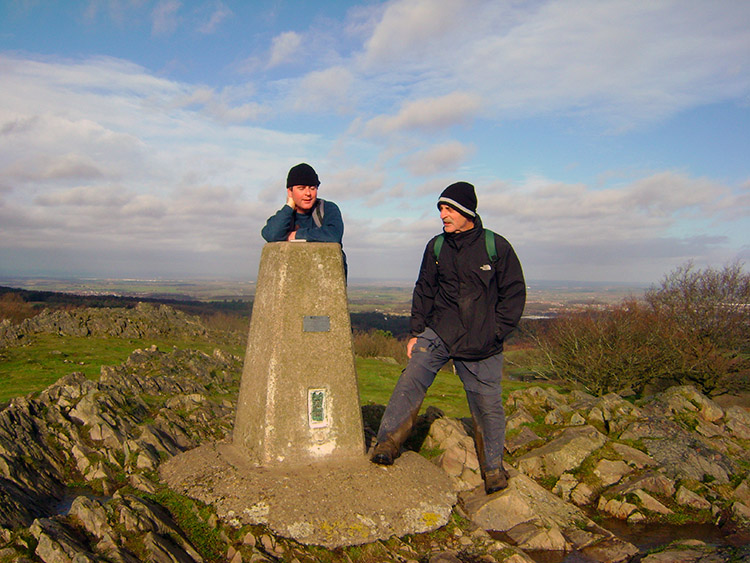 Chris and Steve at Beacon Hill trig point