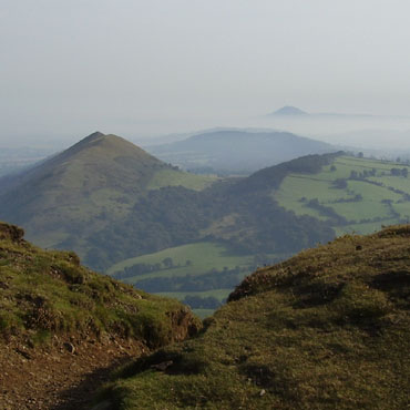 The Lawley and The Wrekin from Caer Carodoc fort
