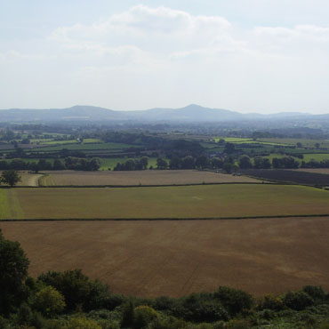 The Lawley and Caer Carodoc from Lyth Hill